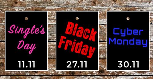 Angebote und datum Singles Day Black Friday und Cyber Monday in der Schweiz