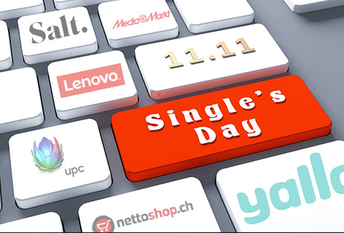 High-tech agebote von Single's Day in der Schweiz