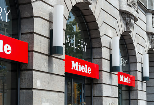 Miele Gallery on Unter den Linden. Miele is a German based manufacturer of high-end domestic appliances - copyright Sergey Kohl