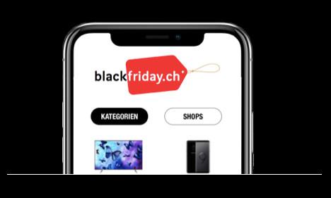mobile app black friday schweiz Suisse